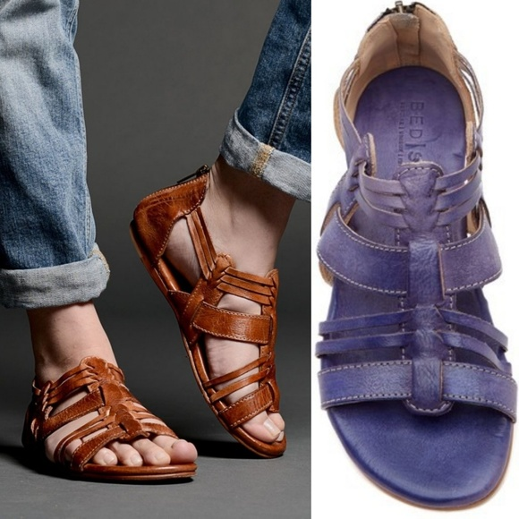 11146f99090c Bed Stu Shoes - New BED STU Cara Leather Flat Strappy Sandal